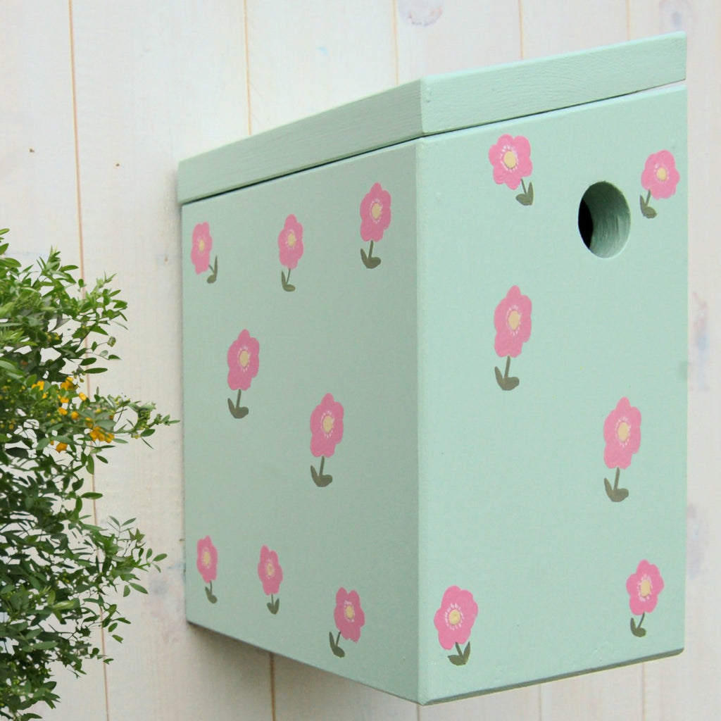 Handcrafted Country Garden Bird Box