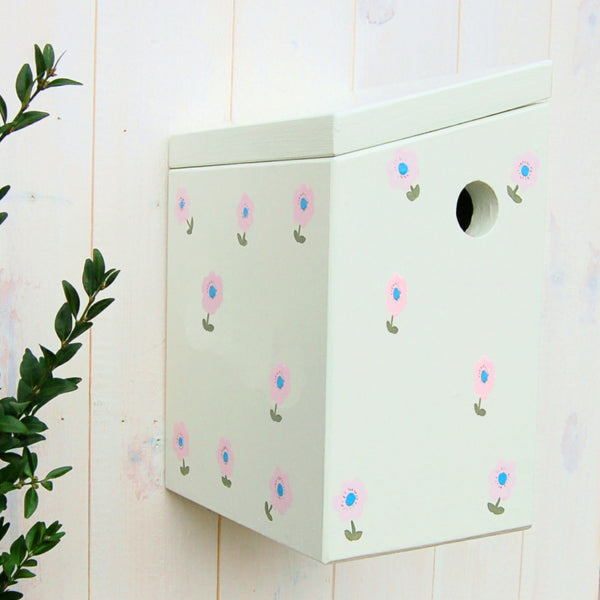Handcrafted Country Garden Bird Box - Lindleywood
