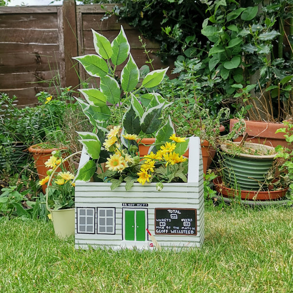 Personalised Cricket Pavilion Plant Holder - Lindleywood