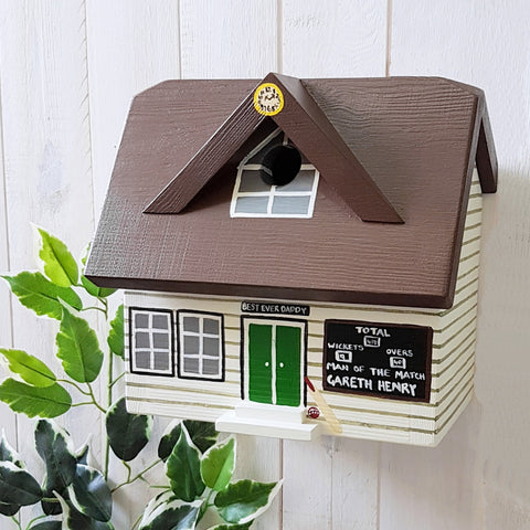 Personalised Cricket Pavilion Bird Box