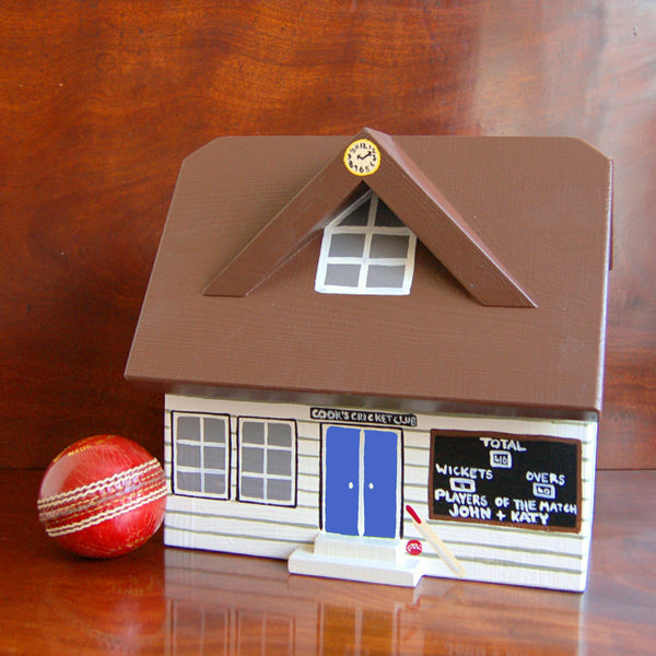 Personalised Cricket Pavilion Keepsake Box - Lindleywood