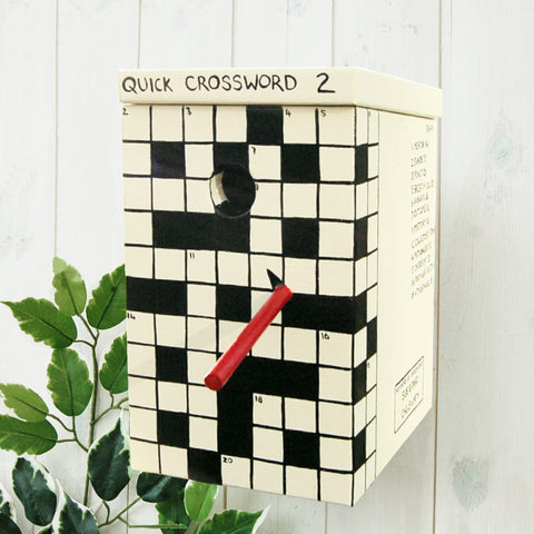 Crossword Bird Box - with real crossword. A perfect gift for a puzzle fan!
