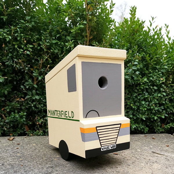Personalised Delivery Van Bird Box - Lindleywood