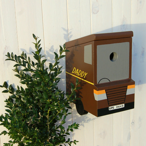 Personalised Delivery Van Bird Box