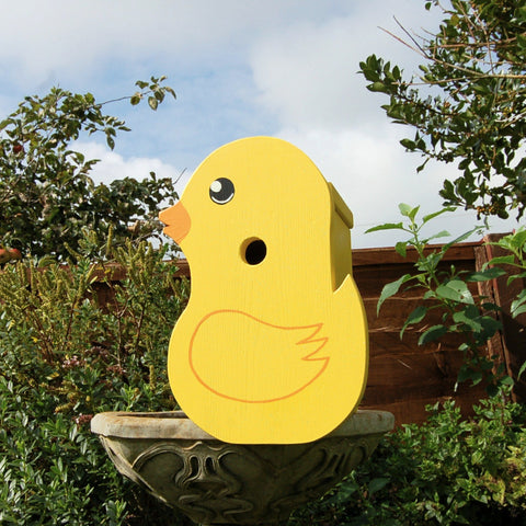 Handcrafted Yellow Duck Bird Box - Lindleywood
