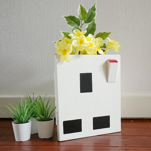 Handcrafted Electrical Socket Plant Holder - Lindleywood