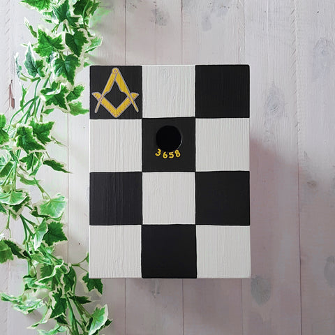 Personalised Freemason Mosaic Pavement Bird Box - Lindleywood
