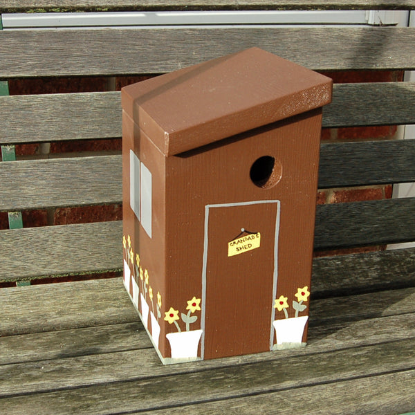 Personalised Garden Shed Bird Box - Lindleywood