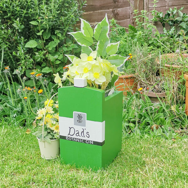 Personalised Gin Bottle Mini Planter - Lindleywood