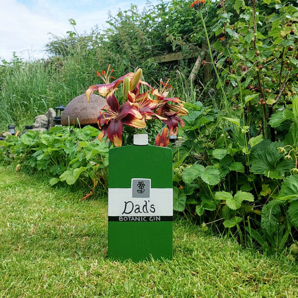Personalised Gin Bottle Plant Holder - Lindleywood