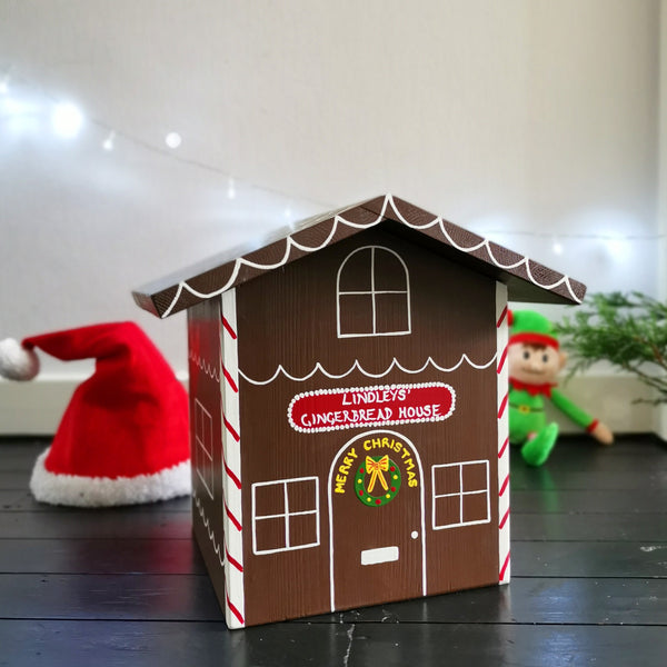Gingerbread House Wooden Christmas Eve Box - Lindleywood