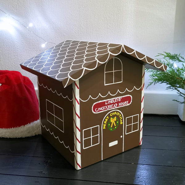 Gingerbread House Wooden Christmas Eve Box