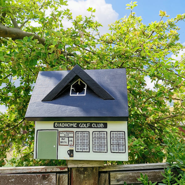 Personalised Golf Club Bird Box - Lindleywood