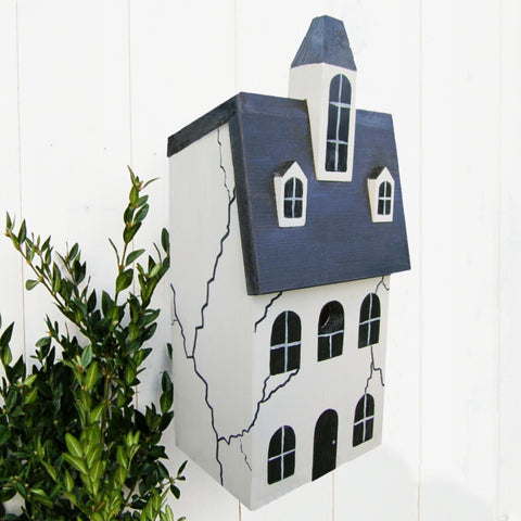 Handcrafted Haunted House Bird Box - Lindleywood