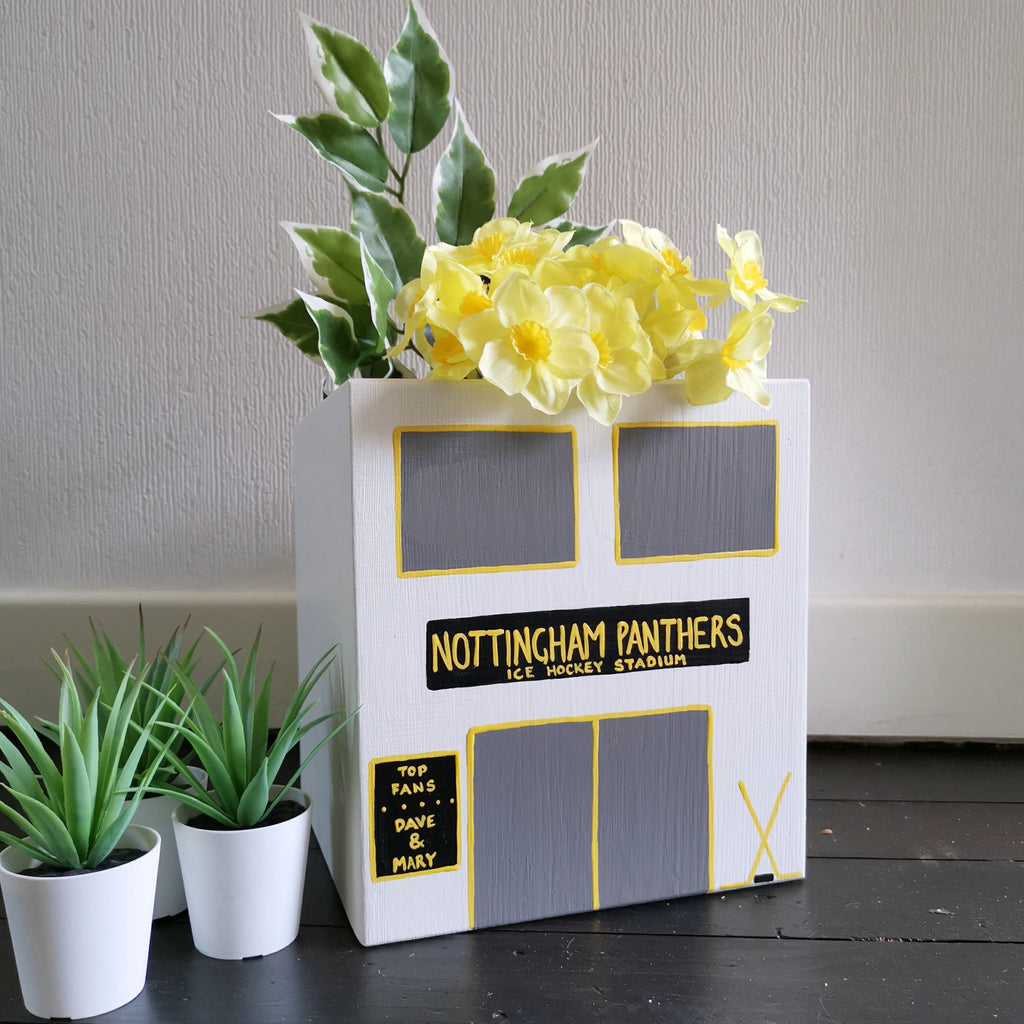 Personalised Ice Hockey Stadium Mini Planter - Lindleywood