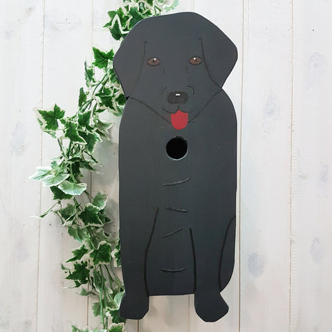 Lindleywood Black Labrador Bird Box - Handcrafted in Lincolnshire