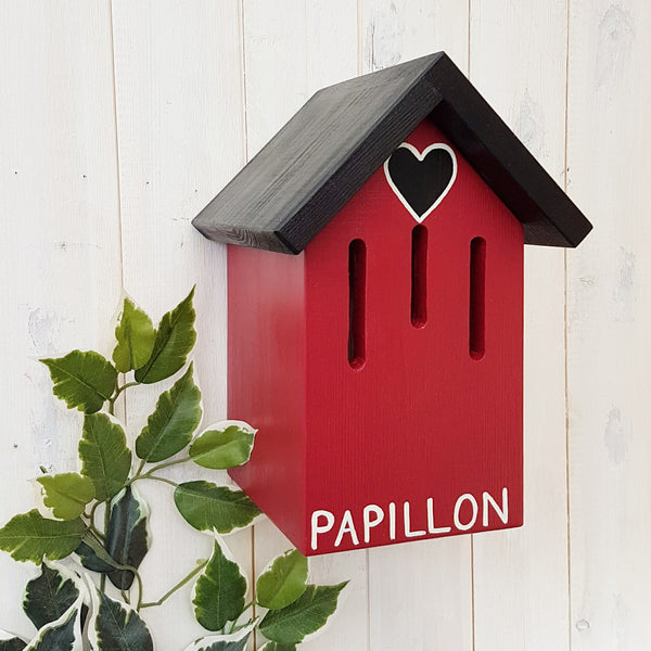 Personalised Love Heart Butterfly House - Lindleywood