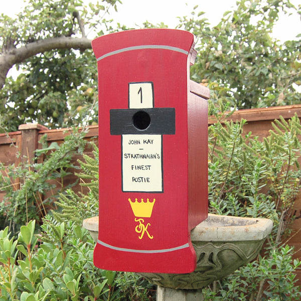 Personalised Post Box Bird Box