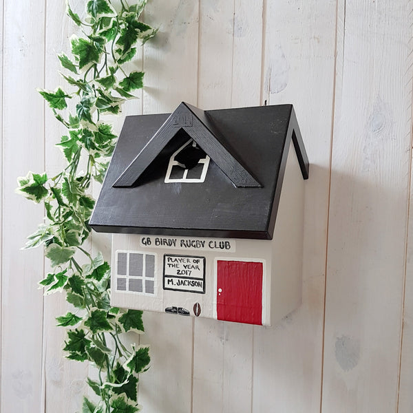Personalised Rugby Club Bird Box - Lindleywood