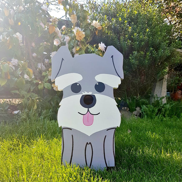 Handcrafted Schnauzer Dog Bird Box - Lindleywood