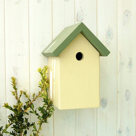 Simply Colour Bird Box - Sage Green and Ivory