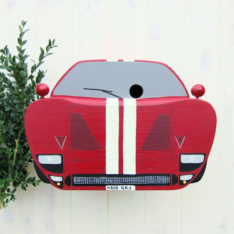 Personalised Sports Car Bird Box - Lindleywood