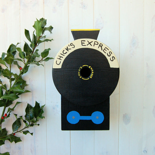 Personalised Steam Train Bird Box - Lindleywood