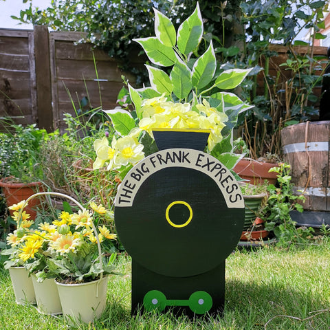 Personalised Steam Train Plant Holder - Lindleywood