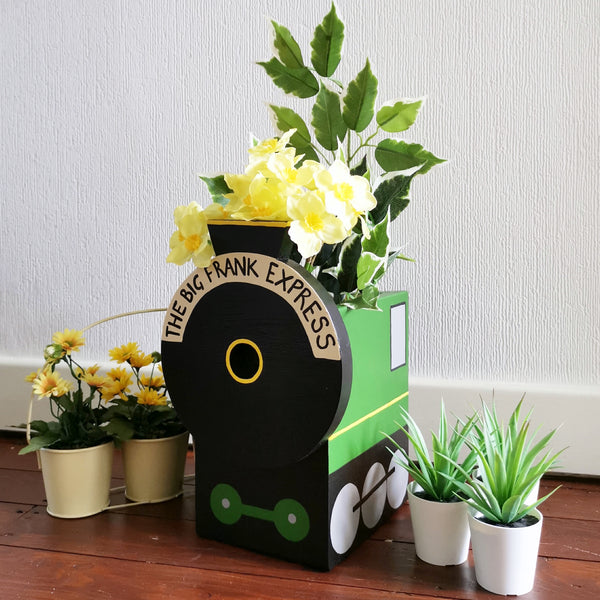 Personalised Steam Train Mini Planter - Lindleywood