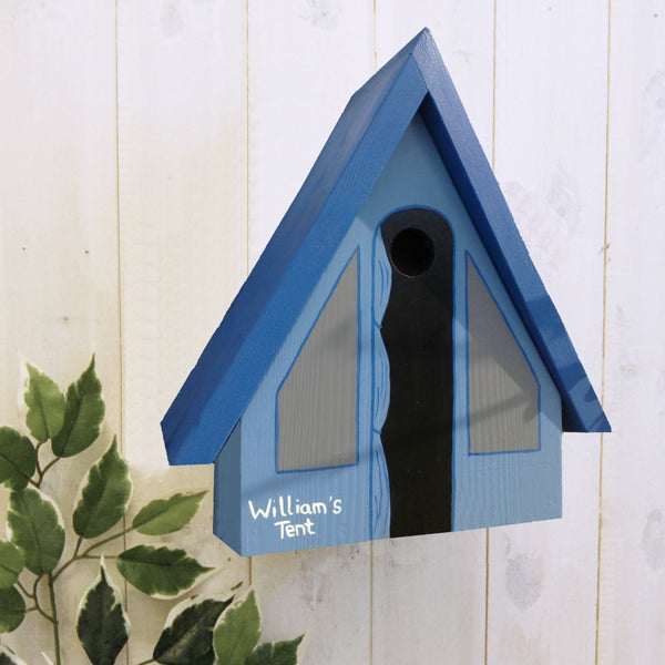 Personalised Camping Tent Bird Box - Lindleywood