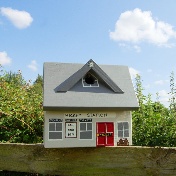 Personalised Train Station Bird Box - Lindleywood