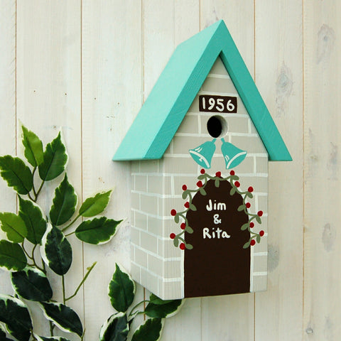 Wedding Bird Box - Turquoise Blue