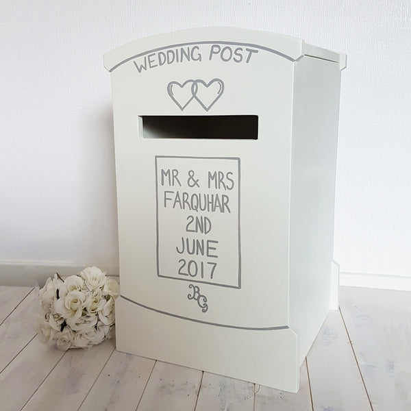 Personalised Lockable Wedding Post Box - Lindleywood