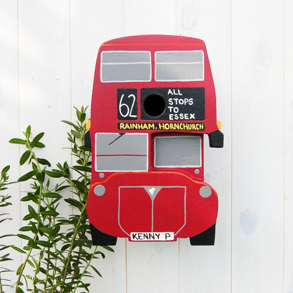 Personalised Bus Bird Box - Lindleywood