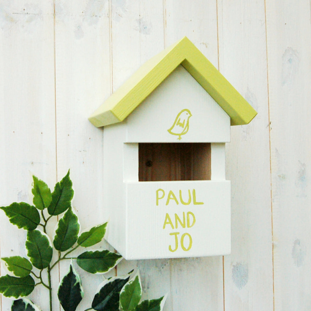 Personalised Robin Bird Box - Lindleywood