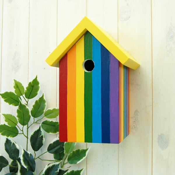 Personalised Rainbow Bird Box - Lindleywood