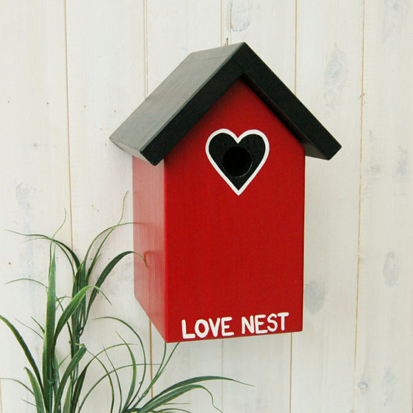 Personalised Love Heart Bird Box - Lindleywood