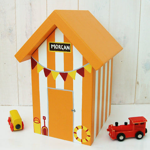 Beach Hut Keepsake Box - Marigold