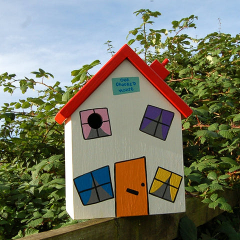 Personalised Crooked House Bird Box - Lindleywood