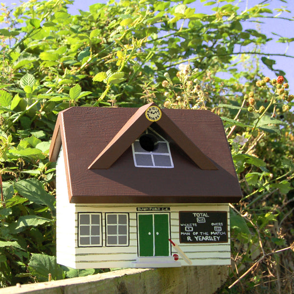 Personalised Cricket Pavilion Bird Box - Lindleywood