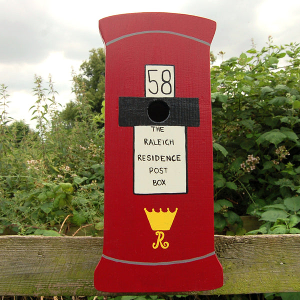 Personalised Post Box Bird Box - Lindleywood