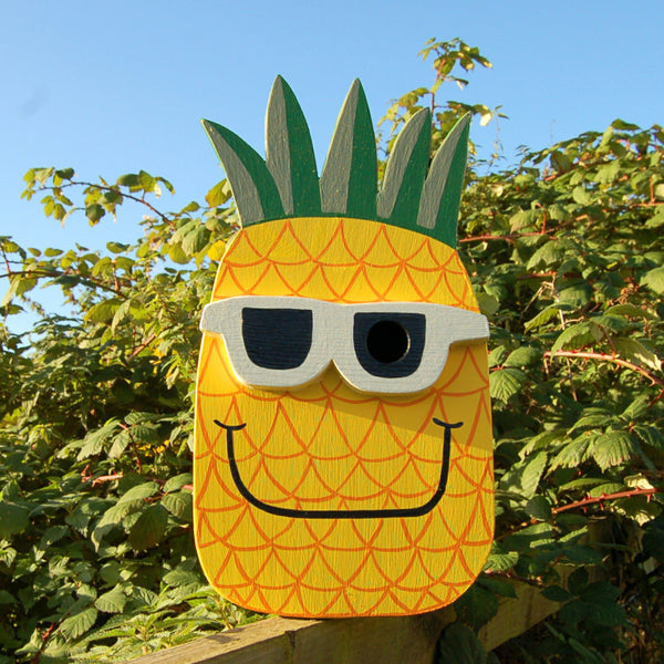 Handcrafted Pineapple Bird Box - Lindleywood