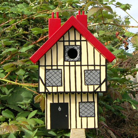 Personalised Tudor House Bird Box - Lindleywood