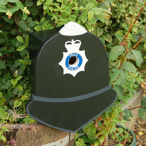 Personalised Police Helmet Bird Box - Lindleywood
