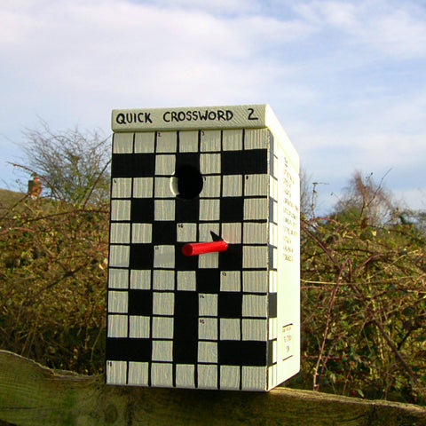 Personalised Crossword Puzzle Bird Box - Lindleywood