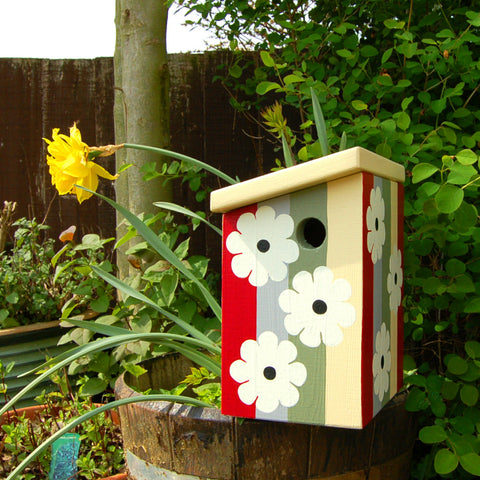 Personalised Flowers Bird Box - Lindleywood