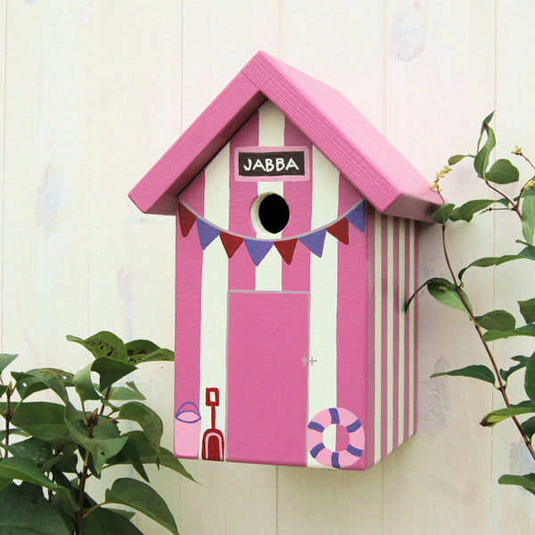 Personalised Beach Hut Bird Box - Lindleywood
