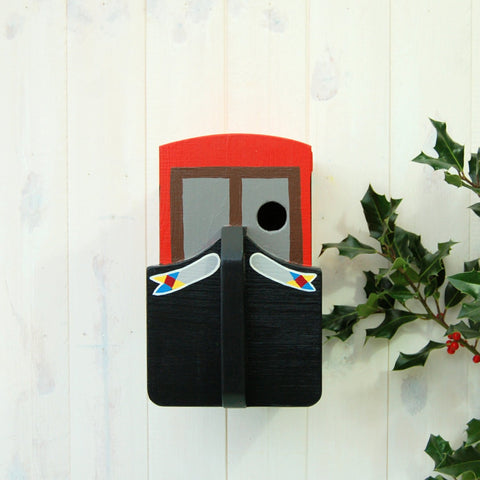 Narrowboat Canal Boat Bird Box - Atomic Red