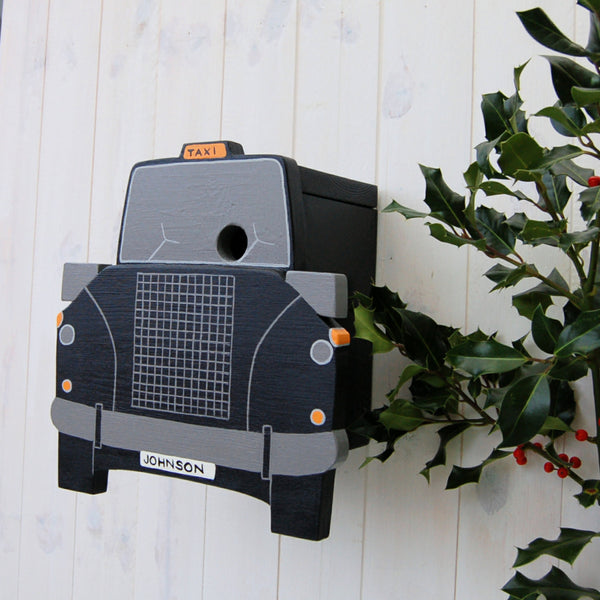 Personalised Taxi Bird Box - Lindleywood