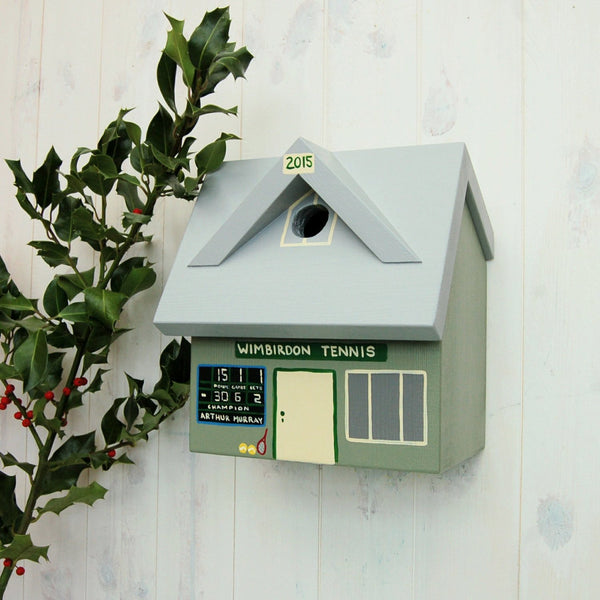 Personalised Tennis Club Bird Box - Lindleywood